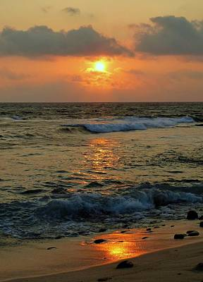 Art Print featuring the photograph A Sunset To Remember by Lori Seaman