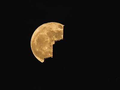 A Super Moon Art Print