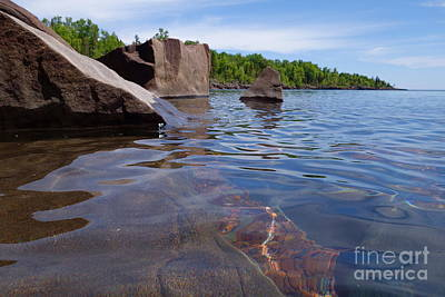 A Superior Shoreline Art Print by Sandra Updyke