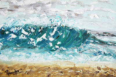 Painting - A Surfer's Dream  by Fareeha Khawaja