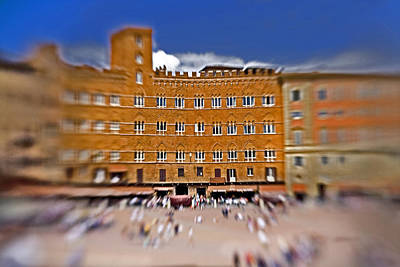 Surrealism Royalty-Free and Rights-Managed Images - A Surreal Siena by Marilyn Hunt
