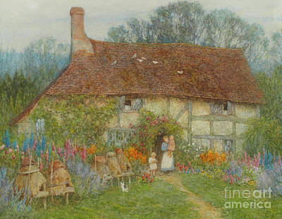 Mums Painting - A Surrey Cottage, 1880 by Helen Allingham
