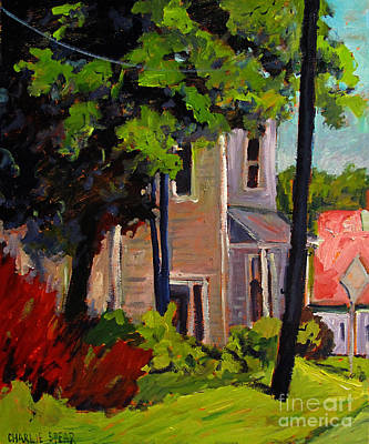 Small Town Scene Painting - A Swell Day In Walton by Charlie Spear