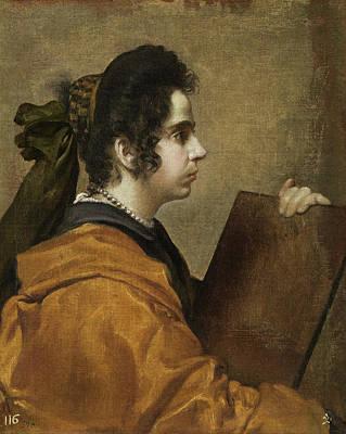Velazquez Painting - A Sybil by Diego Velazquez