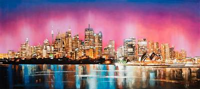Sydney Skyline Painting - A Sydney Jewel by Niphon