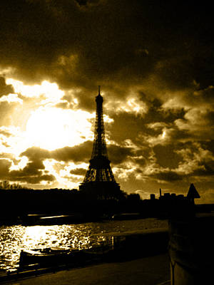 Paris Skyline Royalty-Free and Rights-Managed Images - A symbol by Laura Greco