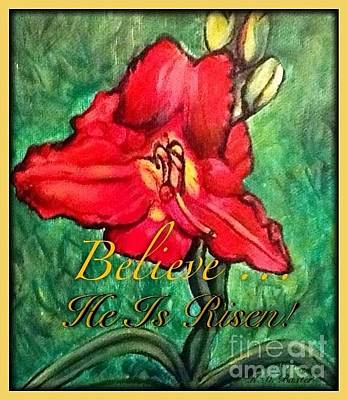 Painting - A Symbol Of Hope In The Resurrection by Kimberlee Baxter