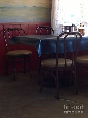Photograph - A Table At The Crowbar Cafe by Jennifer E Doll