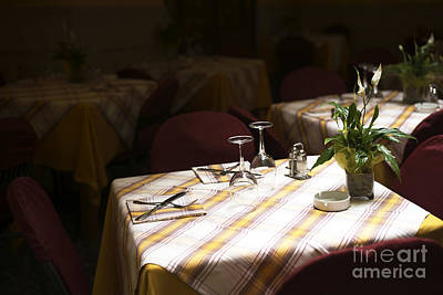 A Table Is Waiting In Sorrento Art Print by John Rizzuto