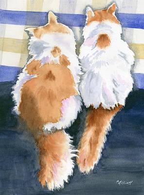 A Tail Of Two Kitties Original by Marsha Elliott