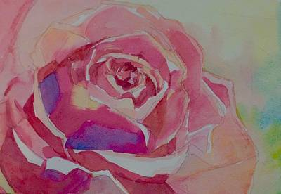 Wall Art - Painting - A Tale Of A Rose  by Jo Mackenzie