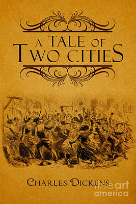 Book Jacket Drawing - A Tale Of Two Cities Book Cover Movie Poster Art 1 by Nishanth Gopinathan