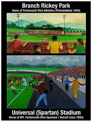 Painting - A Tale Of Two Stadiums by Frank L Hunter