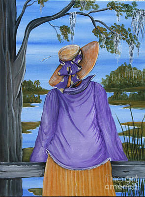 Gullah Geechee Painting - A Talk With God by Sonja Griffin Evans