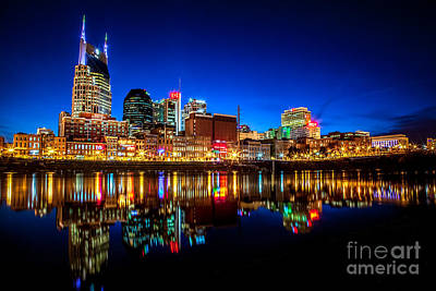 Nashville Tennessee Photograph - A Tame Nashville Night by Lucas Foley