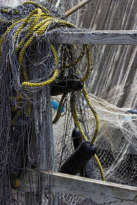 Photograph - A Tangled Mess - Fishing Nets by Ron Grafe