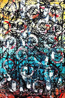 Painting - A Tangled Web - Acrylic Abstract by Patricia Strand