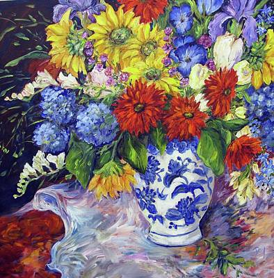 Painting - A Tapestry Of Refelction by Nancy Day