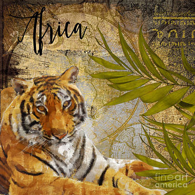 Wild Animals Painting - A Taste Of Africa Tiger by Mindy Sommers