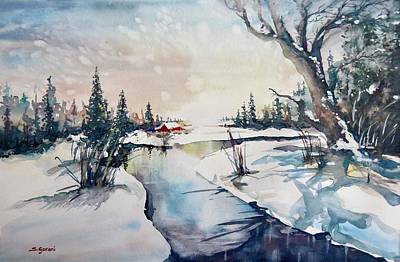 Painting - A Taste Of Winter by Geni Gorani