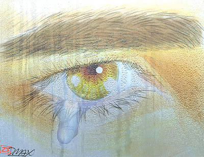 Painting - A Teardrop Kissed... by Zane  Maxwell