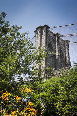 Photograph - A Tease Of The Brooklyn Bridge  by Debra Forand