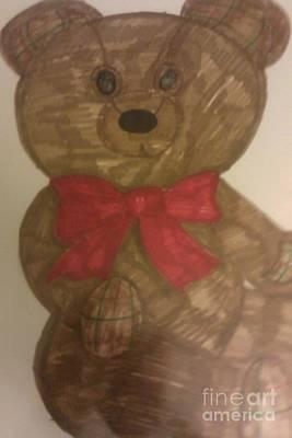 A Teddy Bear Art Print