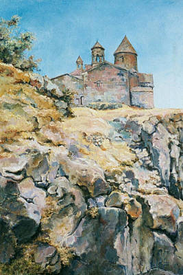 Mountain Painting - A Temple On The Rock by Tigran Ghulyan