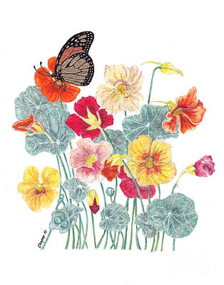 Art Print featuring the painting A Tethered Butterfly by Stanza Widen