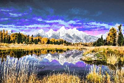 Photograph - A Teton Grand Autumn by Mel Steinhauer