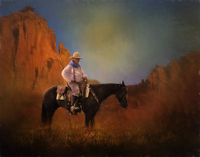 Photograph - A Texas Cowboy by David and Carol Kelly