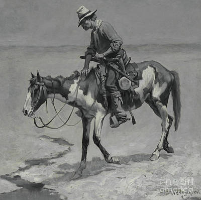 Lonesome Painting -  A Texas Pony, 1889  by Frederic Remington