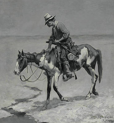 Painting - A Texas Pony by Frederic Remington