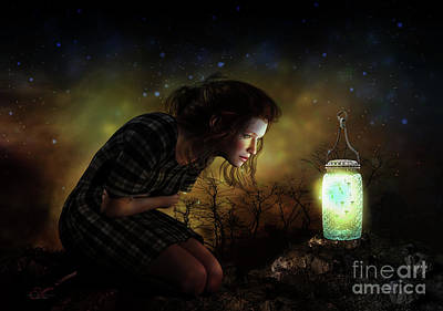 Firefly Digital Art - A Thousand Hugs by Shanina Conway