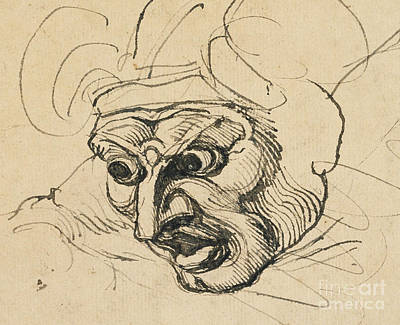 A Threatening Head Art Print by Henry Fuseli