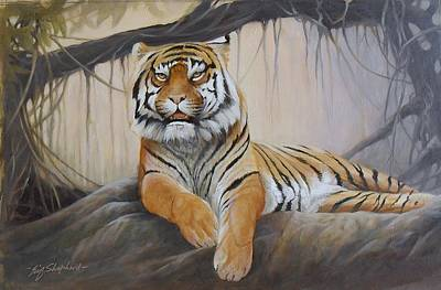 Eric Shepherd Painting - A Tigers Kingdom by Eric Shepherd