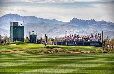 Arizona Golfer Digital Art - A Tiger's On The Green by Michael Biggs