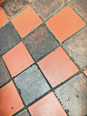 Mosaic Photograph - A Tiled Floor by Tom Gowanlock