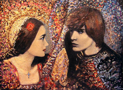 A Time For Us. Romeo And Juliet Art Print by Aleksei Gorbenko