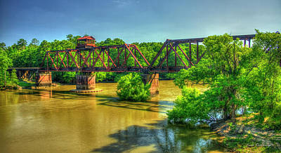 Photograph - A Time Gone By Railroad Bridge Lumber City Georgia by Reid Callaway