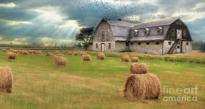 Farming Digital Art - A Time To Reap by Lori Deiter
