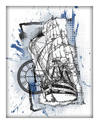 A Time To Sail Art Print by Melissa Smith