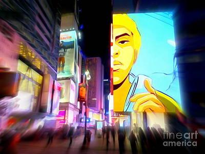 Digital Art - A Times Square Evening by Ed Weidman
