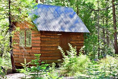 Photograph - A Tiny Log Cabin In The Woods by Kirsten Giving