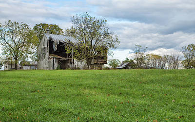 Photograph - A Tired Old Barn by John M Bailey