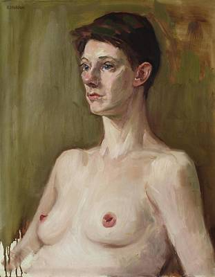 Painting - A Torso And Portrait Study by Robert Holden