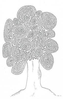 Simplicity Drawing - A Tortoise-tree by Nerea Gutierrez