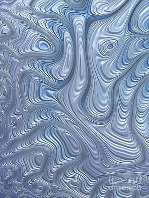 Blue Abstracts Digital Art - A Touch Of Blue by John Edwards