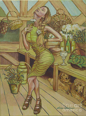 A Touch Of Daisy Art Print by Lisa Hershman