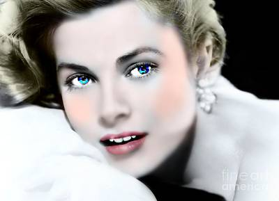 Grace Kelly Mixed Media - A Touch Of Grace by Wbk